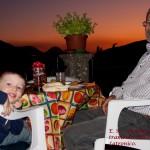 Dalla Terrazza di casa a Latronico. Nonno e Nipote e il Tramonto